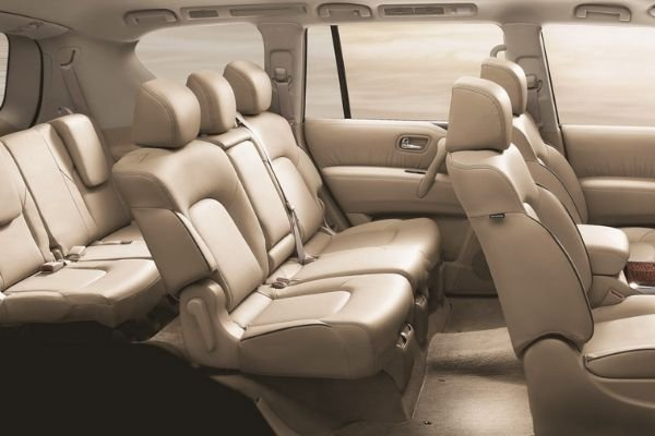 A picture of the interior of the Nissan Patrol Royale