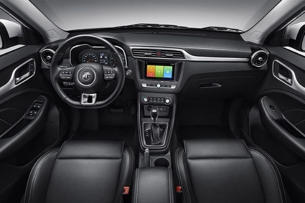 A picture of the MG ZS's interior.