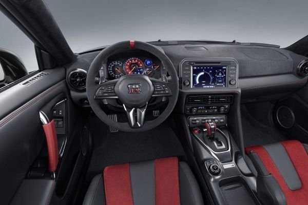 A picture of the GT-R's interior.