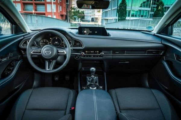 A picture of the CX-30's interior.
