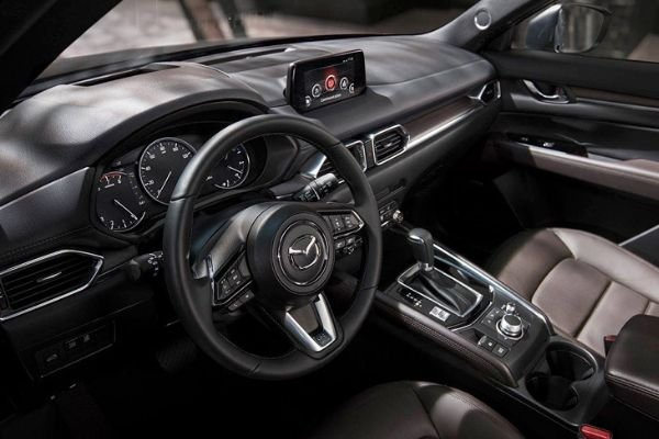 A picture of the CX-5's interior.