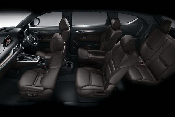 A picture of the Mazda CX-8's interior