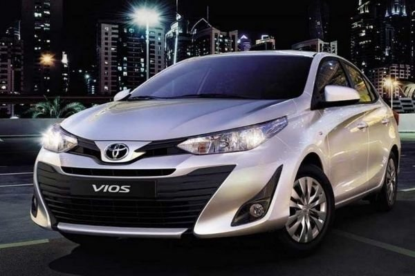 A picture of the Toyota Vios.