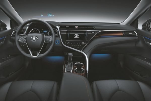 A picture of the Toyota Camry's interior.