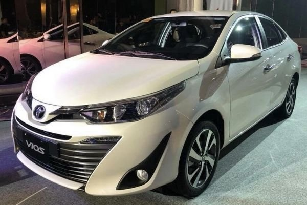 A picture of the face-lifted 2020 Toyota Vios