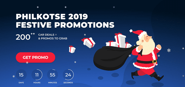 A picture of the Philkotse 2019 Festive Promotions page