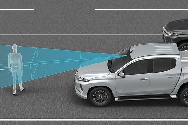 Mitsubishi Strada forward collision warning system