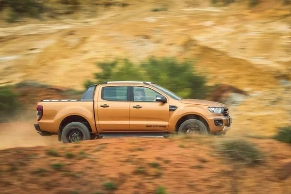 Ford Ranger Wildtrak travelling fast on the road