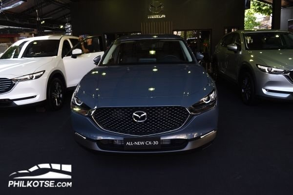 A picture of the CX-30 at the Mazda Premium Experience Pavilion