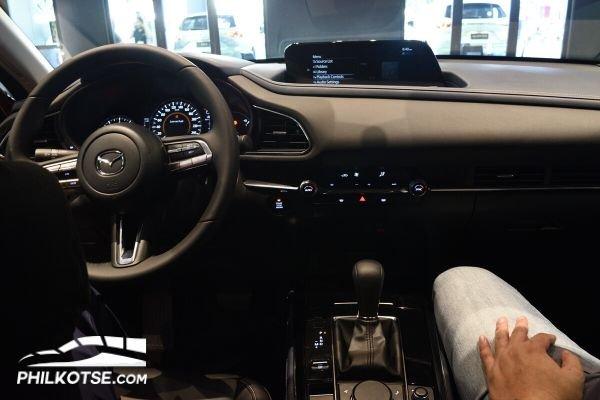 A picture of the Mazda CX-30's interior.