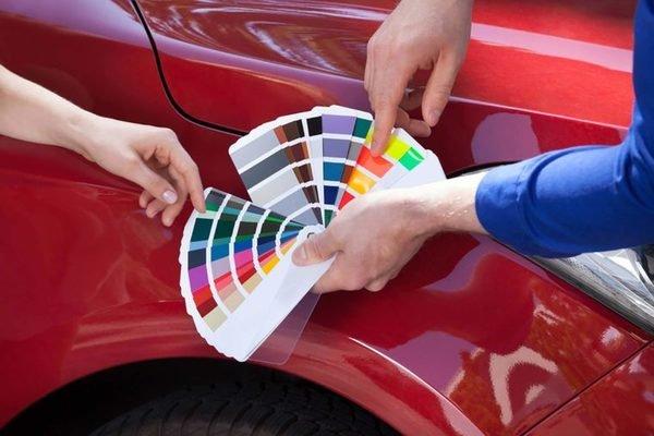 Different car paint color