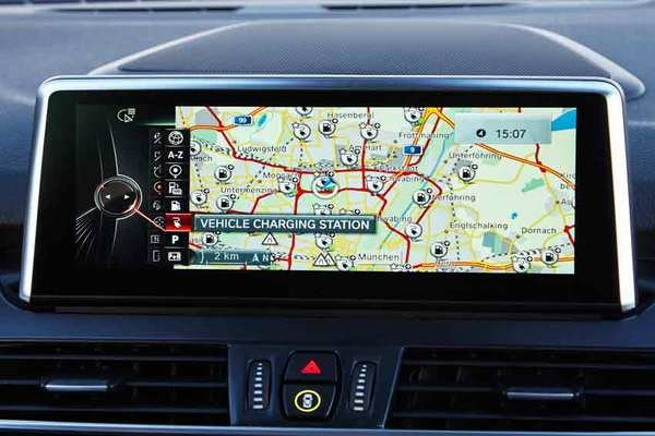 iDrive navigation screen