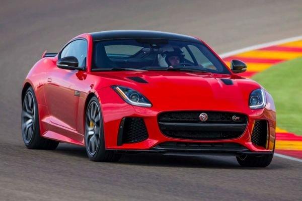 Jaguar F type on the track