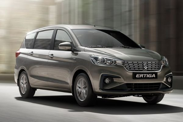 A picture of the Ertiga travelling on a road.