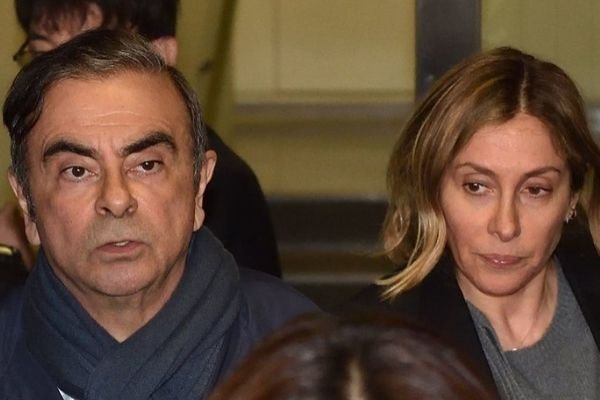 Carlos Ghosn together with his wife Carole Ghosn