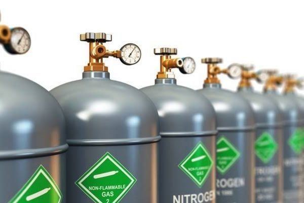 A picture of nitrogen canisters