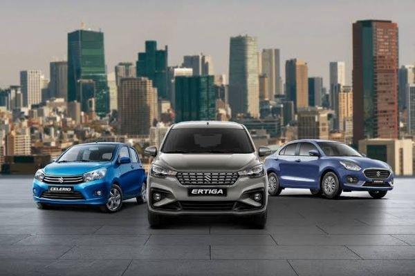 Suzuki Ertiga, the Suzuki Swift Dzire, and the Suzuki Celerio