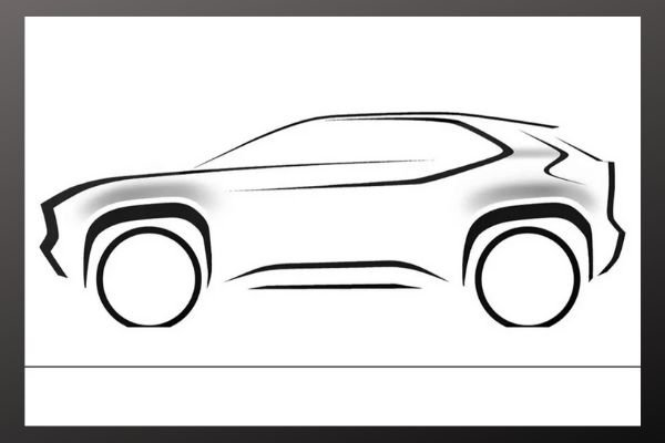 A sketch of the Yaris crossover design