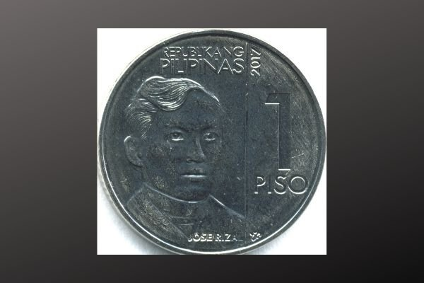 A picture of a 1 peso coin
