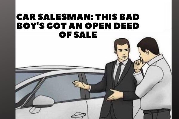 A picture of a car salesman