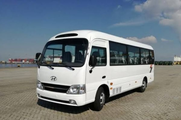 The Hyundai County, the minibus on this list with the largest maximum passenger capacity
