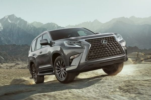 A picture of a Lexus GX in an off-road environment
