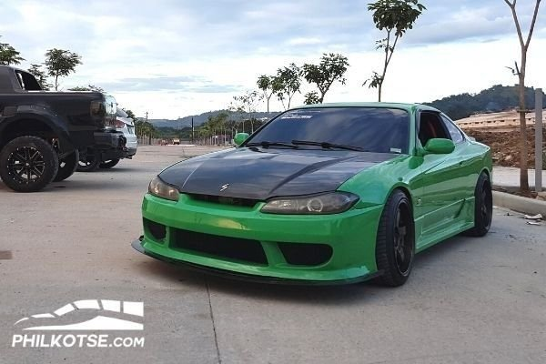 A picture of Ryan Figueroa's green colored Nissan Silvia S15