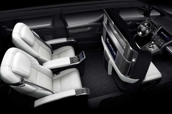 A picture of the Lexus LM's interior top down view