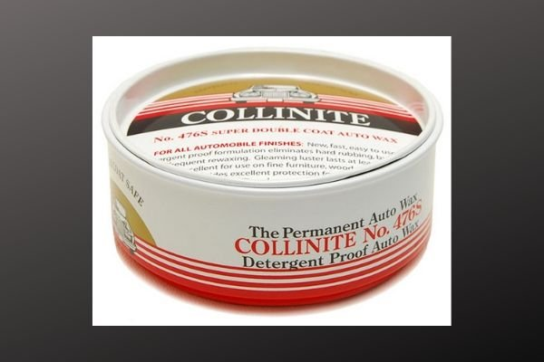A picture of a container of Collinite Auto Wax