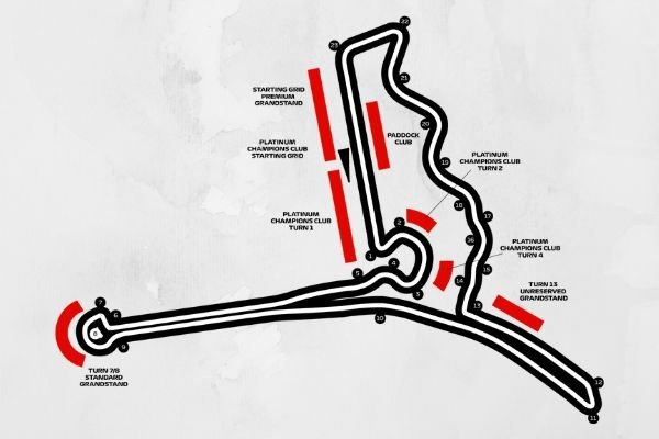 A picture of a map of the Hanoi Street Circuit