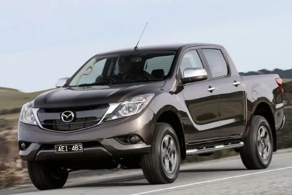 A picture of the Mazda BT-50 on a road