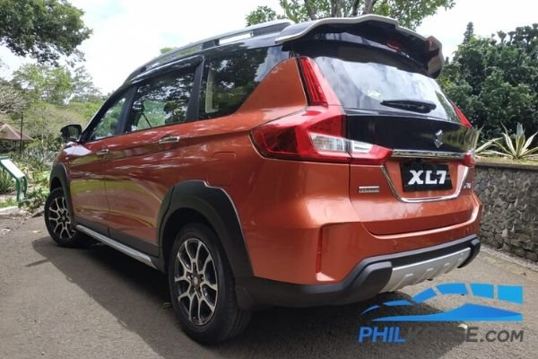 A picture of the rear of the XL7