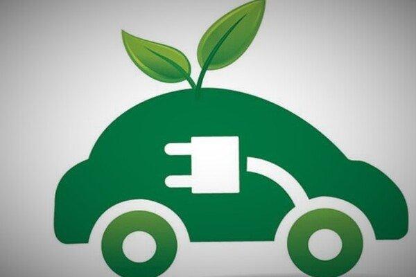 Electric car ilustration