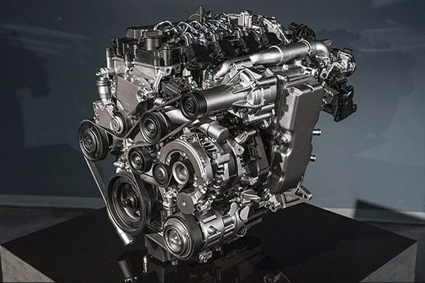 A picture of the Skyactiv-X out of the engine
