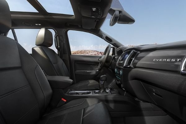 A picture of the Ford Everest's interior