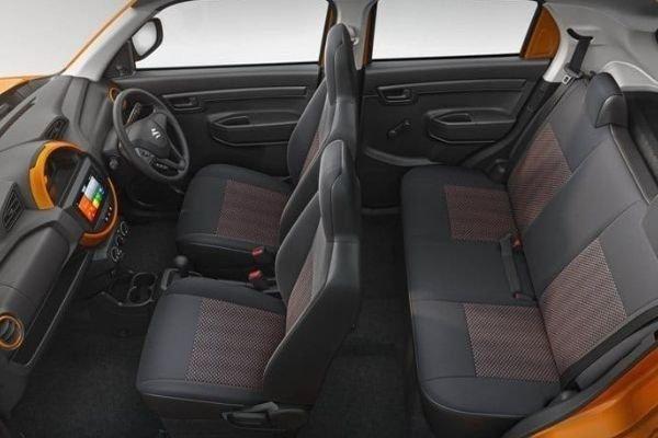 A picture of the interior of the Suzuki S-Presso