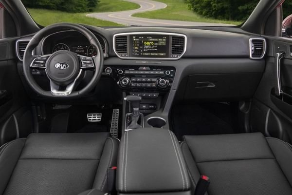 A picture of the Sportage's interior
