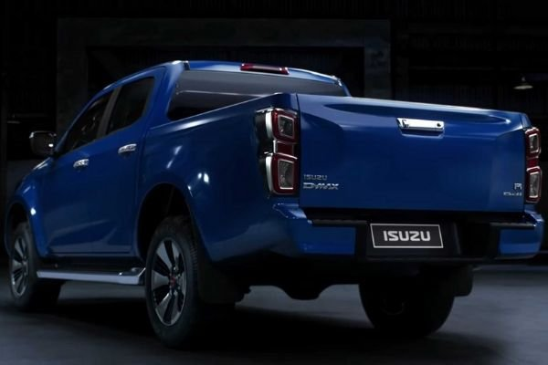 A picture of the rear of the new Isuzu D-Max