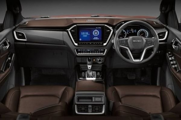 A picture of the interior of the new D-Max