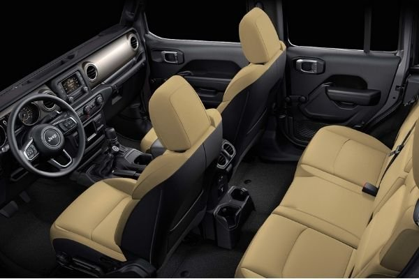 The interior of the Jeep Wrangler