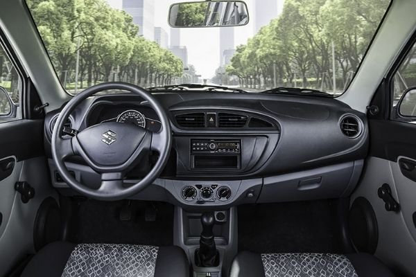 A picture of the Alto's interior