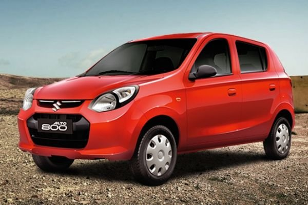 A picture of the side of the Suzuki Alto 800