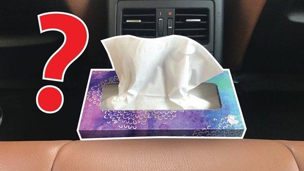 tissue in car