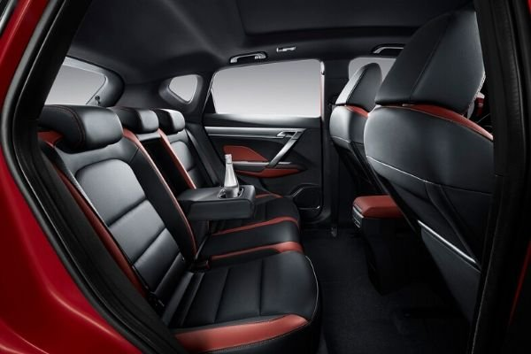The Geely Coolray's interior highlighting the rear seats
