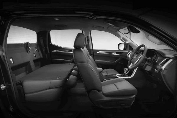 A picture of the MG Extender's interior