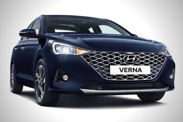 A picture of the front of the Hyundai Verna/Accent