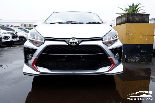 Front view of the Toyota Agya