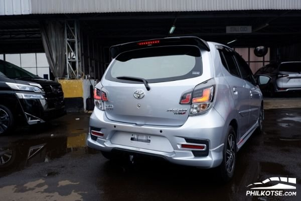 Rear view of Toyota Agya