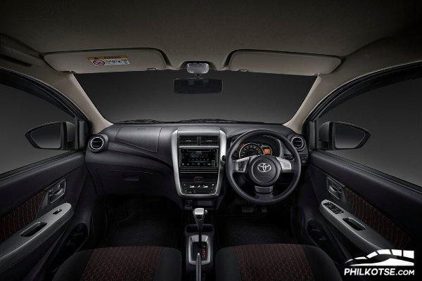 Interior of Toyota Agya