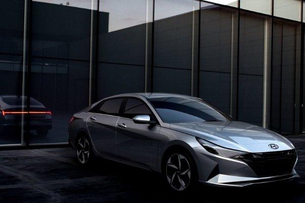 Parked Hyundai Elantra